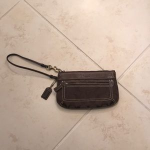 Coach Wristlet with Front Pocket